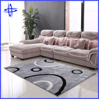 polyester shaggy rug with modern design