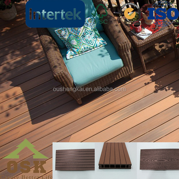 wpc crack-resistant wood plastic swimming pool deck