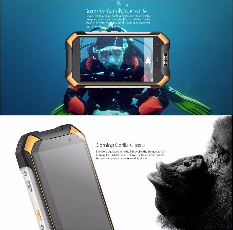 "Android 6.0 Rugged Phone NFC Waterproof Smartphone MT6755 Octa Core 3GB Ram 32GB Rom 13MP 4.7"" Rugged 4G LTE Phone"