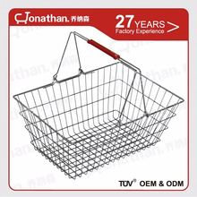 New style durable metal supermarket wire shopping basket
