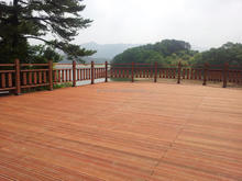 Wood Grain Wood Plastic Composite Decking Anti- UV Hollow Waterproof Outdoor WPC Flooring