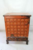 Chinese antique furniture pine wood orange Medicine cabinet