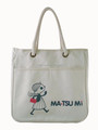 Custom logo print cotton tote bag with rope handles for shopping and working