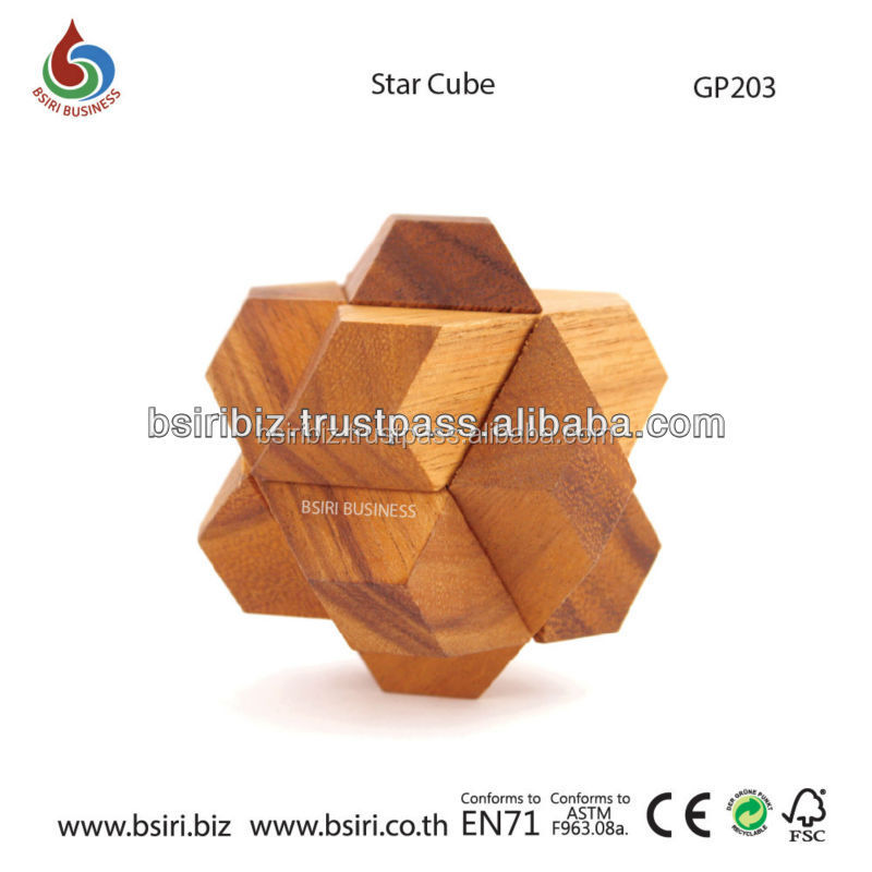 Star Cube wooden childrens puzzles