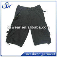 hot sale xxx 6 pockets cotton twill bermuda shorts men