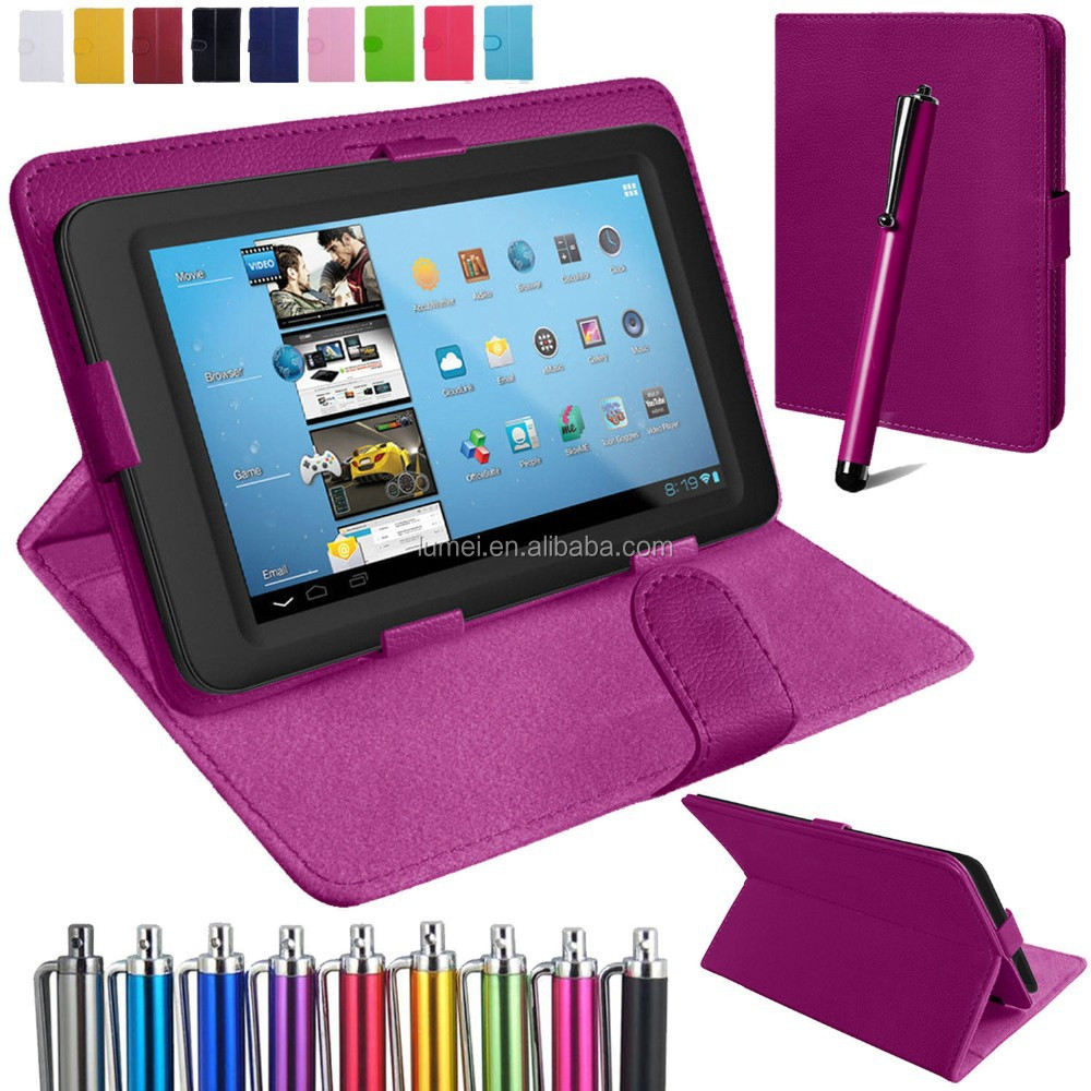 Universal PU Leather Stand Folding Folio Case Cover For 7 Inch Tablet