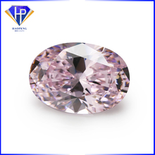Factory Wholesale Loose 6x8mm Light pink CZ Brilliant Cut Oval 53 Facets Cubic Zirconia Gemstone #HP1002