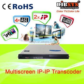 12 channels mpeg-2 to H.264 IPTV Transcoder