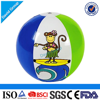2017 Top supplier Hot sell cheaper plastic PVC inflatable beach ball