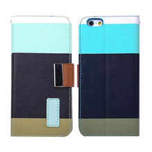 new products business card holder book wallet leather case for iphone 6