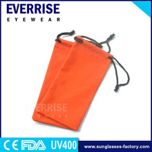 Custom sunglasses packaging boxes ,orange PU pouch for sunglasses