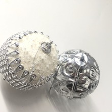 Christmas Ball White Transparent Can Open Plastic Ball Wedding Birthday Party Decoration Festive Gift