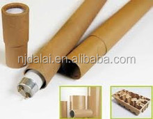 custom made biodegradable cylinder cardboard shipping tube plus metal/plastic caps