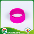 Various types colors silicone blank slap bracelet