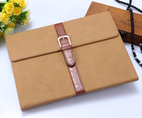 Hot! New! Retro bag business design with belt clip for ipad air 2 stand pu leather case factory price
