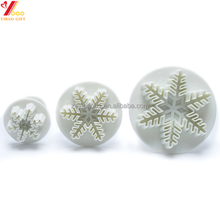 Snowflake Fondant Cake Decorating Plunger Sugarcraft Cutter Molds Tools Christmas Cake Decorating Tools