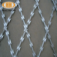 Hot Sale and Security BTO-22 Concertina Razor Barbed Wire price and Mobile Razor Wire Barrier Trailer