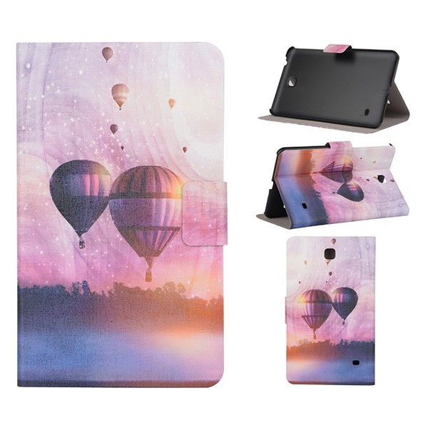 PU Stand Function Purple Balloons Tablet Leather Case 6inch For Huawei Ascend Mate 7
