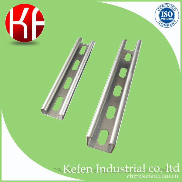 steel C channel for wire protection, U channel with hole, electrical galvanized channel