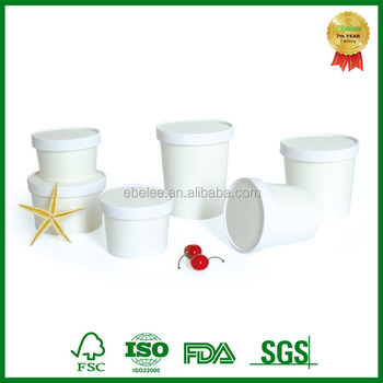 disposable take out custom printed soup cup