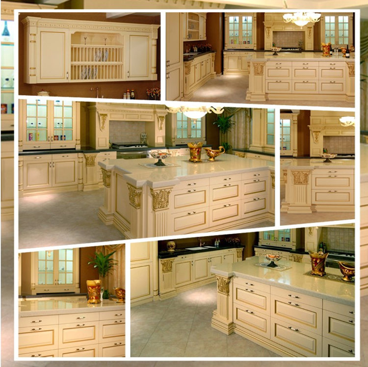 Unfinished kitchen cabinets wholesale with solid wood