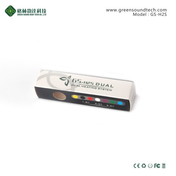 GS H2S bottom dual heating e cig wholesale china electronico