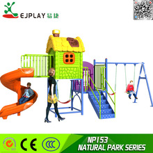 Safety Outdoor playground Kids plastic set slide playground equiqpment NP153-NATURAL PARK SERIES