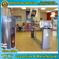 Good quality material mobile phone store furniture design