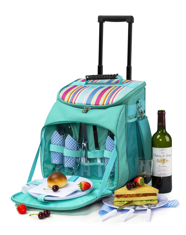 trolley picnic bag high quality picnic trolley bags on wheels