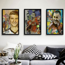 Custom oil painting soccer world cup oil painting for bedroom