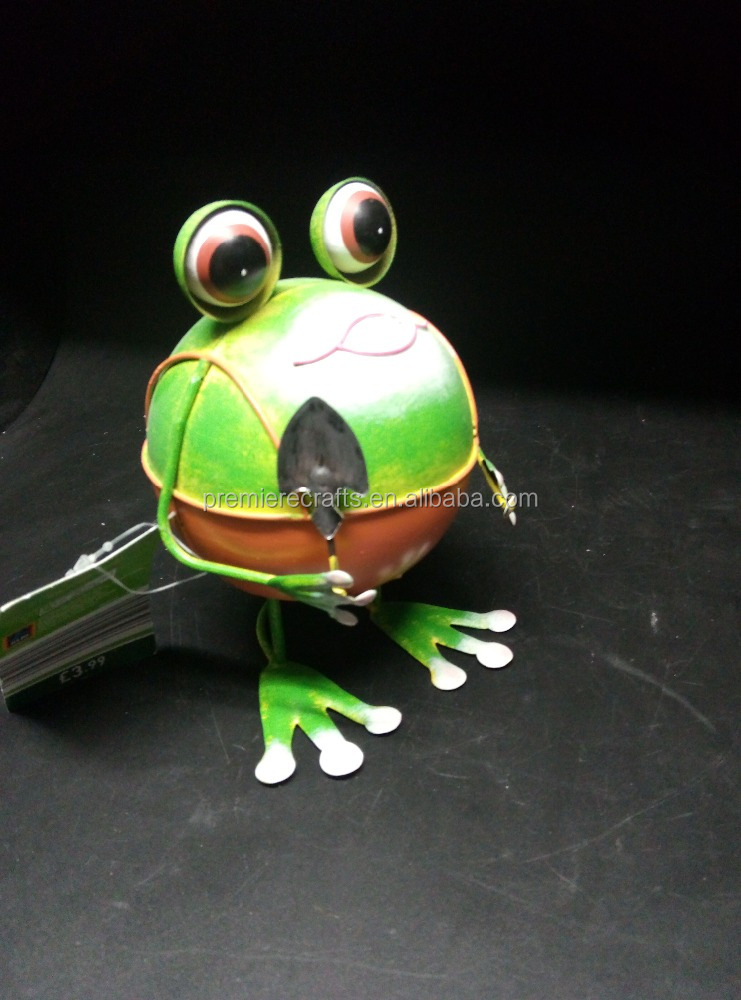 Wrobbling Garden Decoration Metal Frog