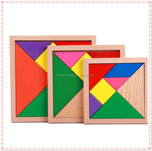 Educational Tangram Wooden Jigsaw Puzzle Toys for Kids