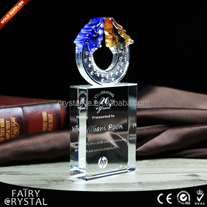 Business Gift 3D Laser Crystal Trophy Cup Award ANY LOGO