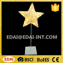 Warm white led star shape christmas light battery operated