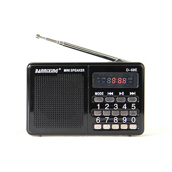 New Product 2015 D-68E portable small speaker, fm radio speaker