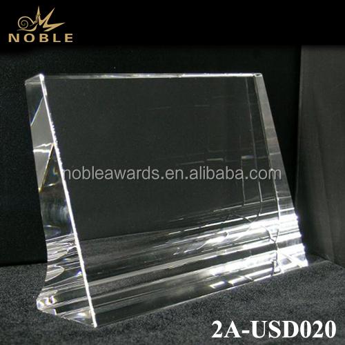 Horizontal Frame Laser Cut Crystal Cube Trophy Award Plaque