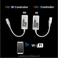 DC5-28V MINI LED RGB / RGBW WIFI Controler For RGB / RGBW LED Strips