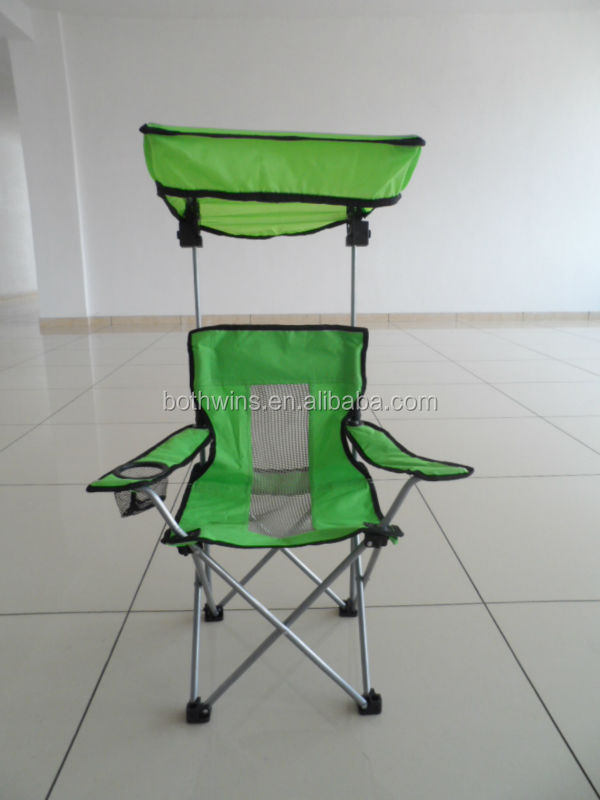 Fabric Green Folding Chair for Children with Lid