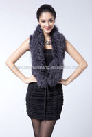 Double Face Mongolia Lamb Fur Scarf Brown 2012-2013
