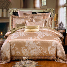 Tribute satin lace 4pcs bed sheet set embroidery bed cover,embroidery bed sheet ,embroidery bedding set BSS12