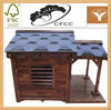 natural home decoratio outdoor painted wooden dog kennel