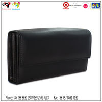 2015 New design promotional wallet ladies wallet with coin purse
