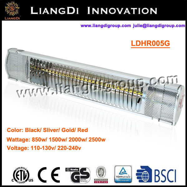 IP65 Electric Halogen Electric Patio Heater Wall Mount