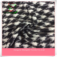 Fashion Jacquard wool knit fabric for garment,overcoat