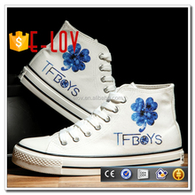 Hot stock flat sneakers oem name brand shoes cheap T-Z008