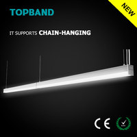 U-Type Cable Hanging Surface Mounted Streamline 2 LED Linear CE Rohs Indoor Lighting Dimming Light for Office Lighting