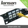 Factory price 24 port cat6 Patch Panel for rj11 and rj45 network solution