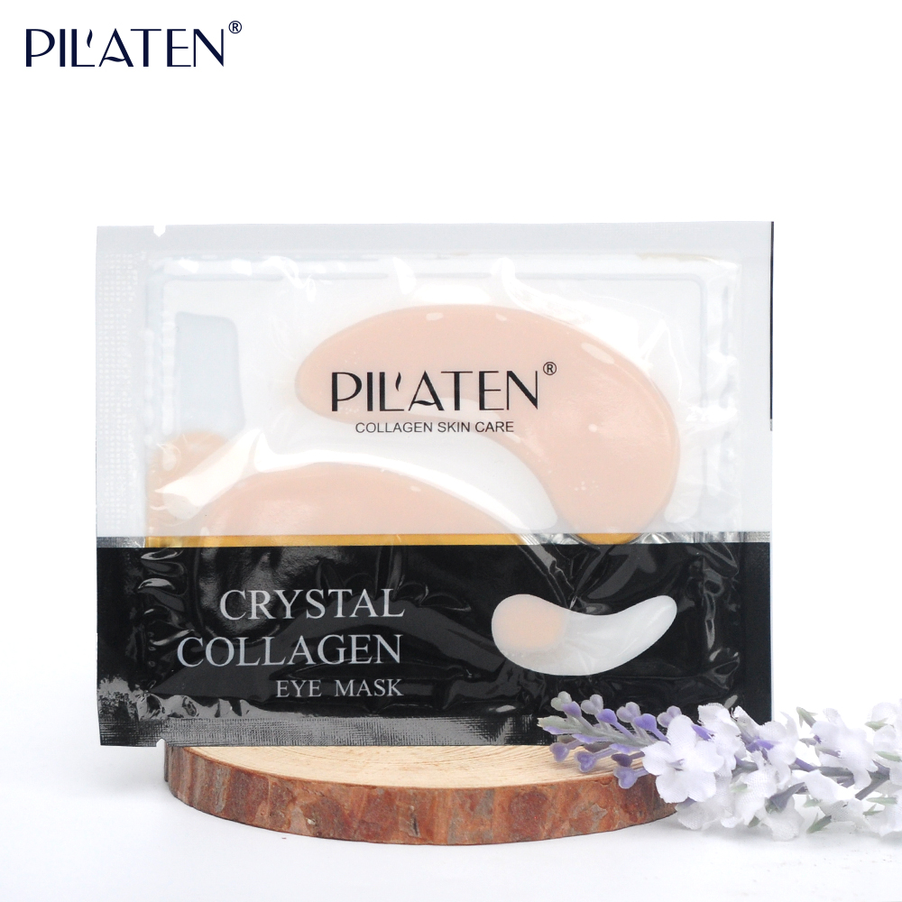 Pilaten Pirate Label Wholesale Anti-wrinkle Anti-Puffiness Crystal Collagen Eye Mask Eye Patch