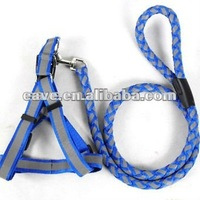 Hot Sale Weave Design High Quality Reflective Material Dog Harness and Leash Drop Shipping Pet Products Supplier E034