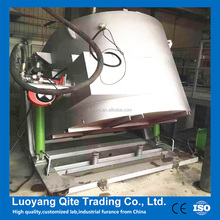 Qite 200kg Tilting type gas fired melting furnace for aluminum and copper